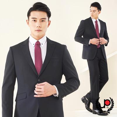 極品西服-經典紳士羊毛素面小劍領西裝_黑(AS601-3G)