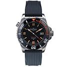 DAVOSA T25橘色氚氣燈管300M潛水錶-橡膠錶帶/42mm