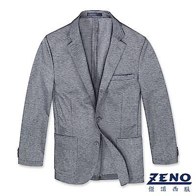 ZENO 精品舒適休閒西裝外套‧灰色L-3L