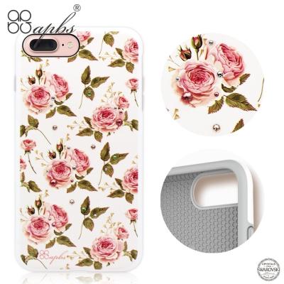 apbs iPhone8/7 Plus 5.5吋施華彩鑽耐衝擊手機殼-力與美系列(玫瑰)
