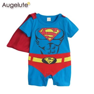 baby童衣 包屁衣 英雄造型短袖連身衣 披風可拆 32005