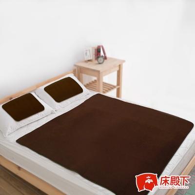 床殿下Fleece蓄暖雙人墊+2枕 送Laskin法式柳編野餐籃