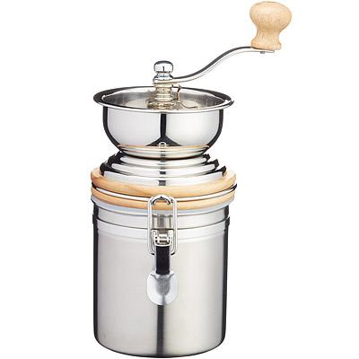 KitchenCraft 咖啡磨豆機+扣環保鮮罐