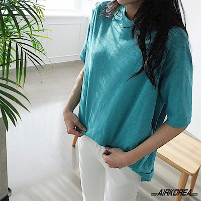 【AIRKOREA】正韓圓領基本款棉質上衣