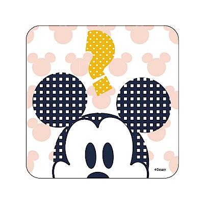【迪士尼獨家授權】普普風珪藻土吸水杯墊/皂盤 -米奇問號