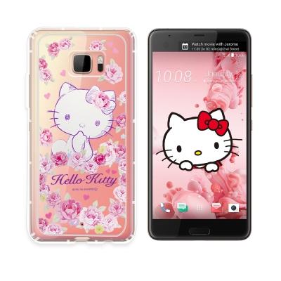 三麗鷗授權 Hello Kitty HTC U Ultra空壓氣墊保護殼(玫瑰k...