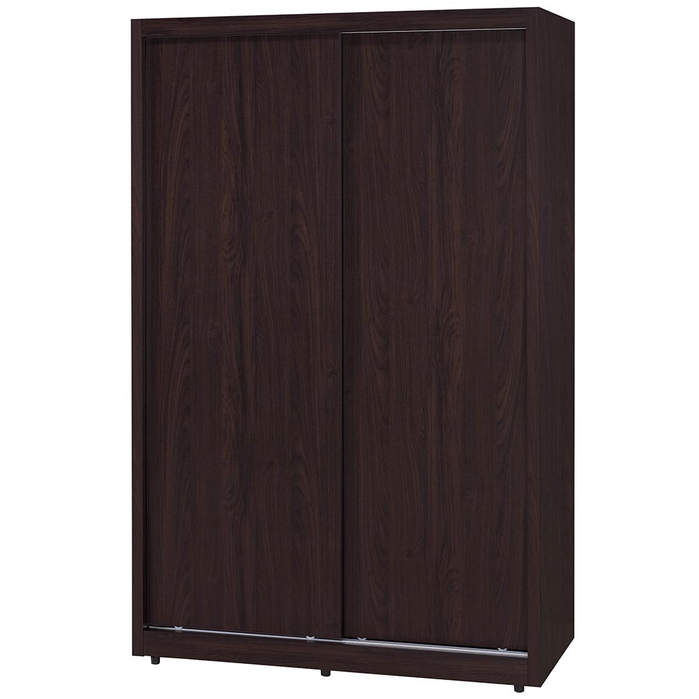 H&D 胡桃4*7推門衣櫃 (寬119X深60X高198cm)
