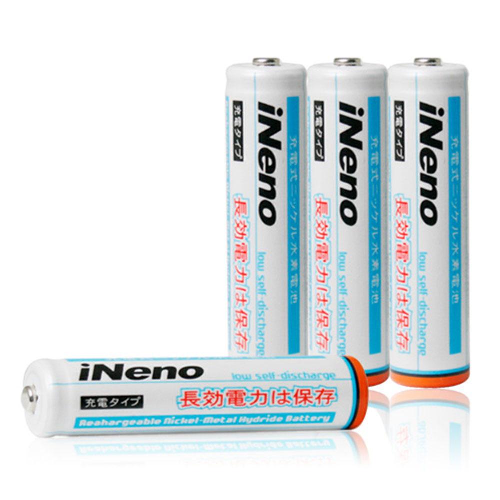 iNeno艾耐諾低自放4號鎳氫充電電池4入