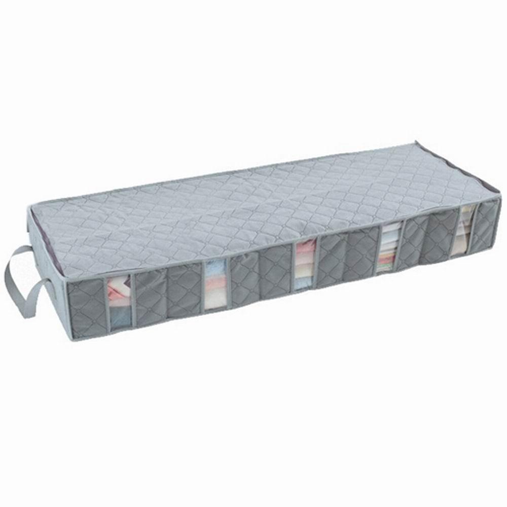 iSFun竹炭纖維 長型透視床下5格收納袋53L 100x35x15cm