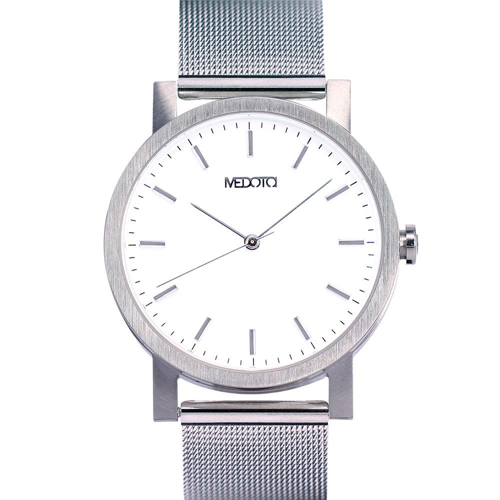 MEDOTA 極簡輕薄手錶- 倒影系列 – 男錶 銀色/40mm