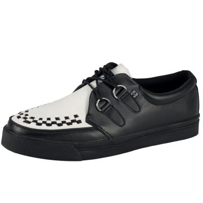 TUK經典龐克休閒鞋-黑/白