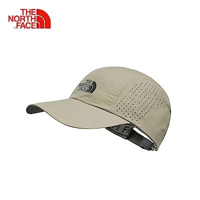 The North Face北面卡其色吸濕排汗休閒運動帽