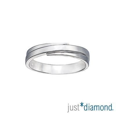 Just Diamond甜蜜恰恰 男女對戒-寬版(男戒)