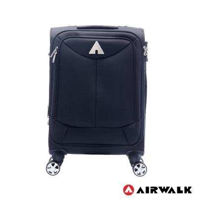 AIRWALK LUGGAGE 尊爵系列黑色的驕傲 布面拉鍊20吋行李箱 傲人黑