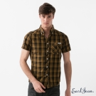Earl Jean 十字象棋格襯衫-咖啡-男