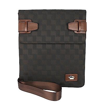 DRAKA 達卡 - 斜背包/側背包/肩背包-掀開式經典格紋扁包