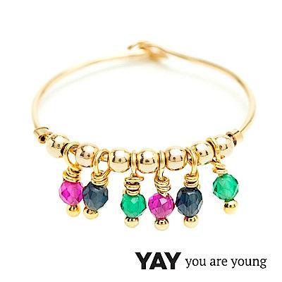 YAY You Are Young Frida 寶石花束戒指 流蘇款 彩鑽X星辰豆豆