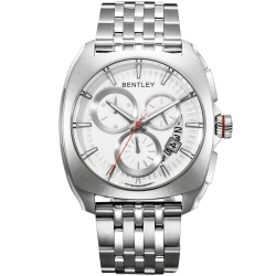 BENTLEY 賓利 Solstice系列 黑暗紳士手錶-銀/45mm