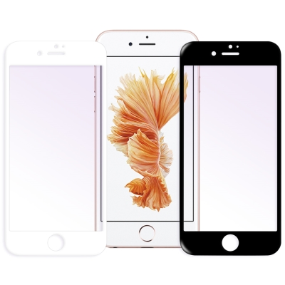 LUCCIDA Apple iPhone6 / 6s Plus抗紫光3D滿版玻璃...