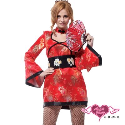 天使霓裳-異國戀曲-和服-角色扮演服-紅F