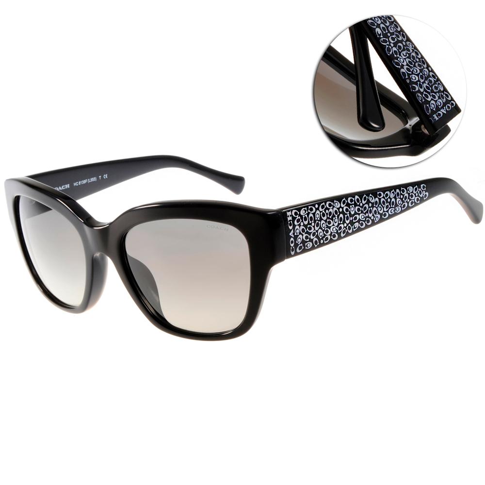 COACH太陽眼鏡 滿版LOGO款/黑#COS8139F 500211 @ Y!購物