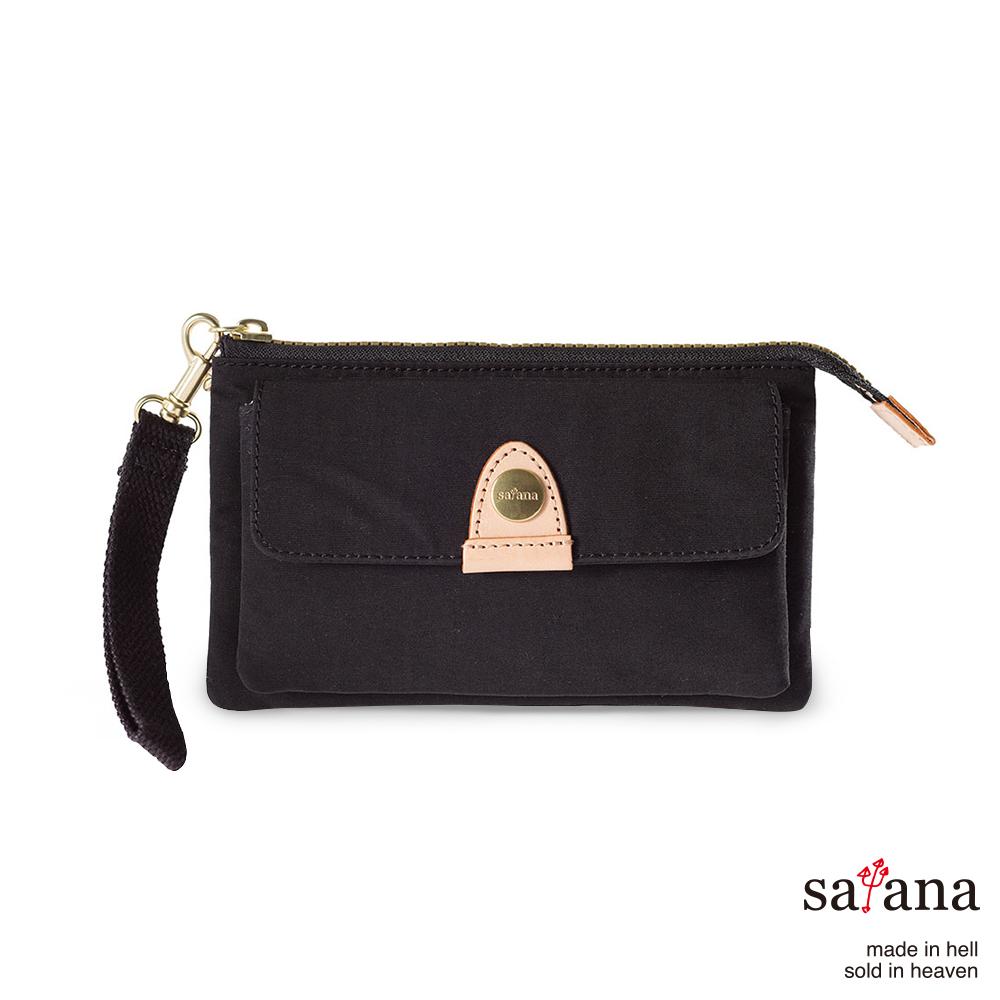 satana - 都會長夾/手拿包 - 黑色