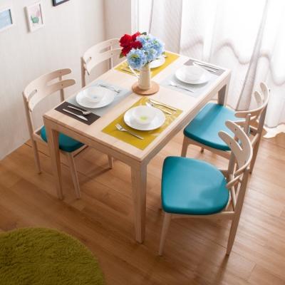 簡約風 杰羅姆餐桌+奈杰爾餐椅-121x75x77cm