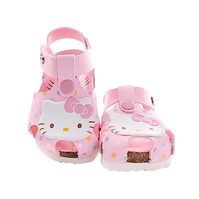 Hello kitty點點魔鬼貼涼鞋 粉 sk0358 魔法Baby
