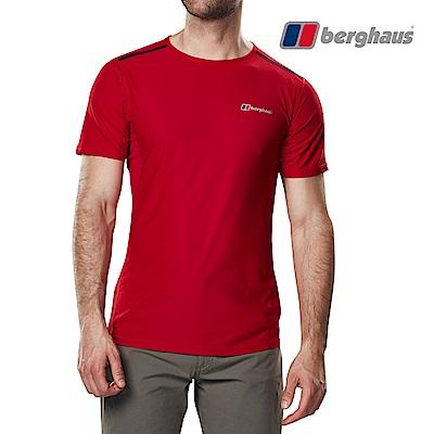 【Berghaus貝豪斯】男款銀離子除臭抗菌抗UVT恤S04M12-紅