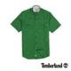 Timberland 男款綠色素面單口袋亞麻