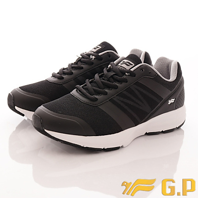 GP時尚潮流-輕量彈力運動鞋款-FI795W-10黑(女段)