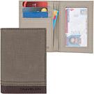 《TRAVELON》Courier帆布防護卡片證件夾(棕)