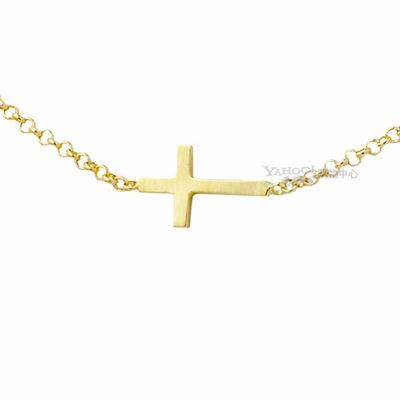 Dogeared 美國品牌Whisper-金色十字架項鍊