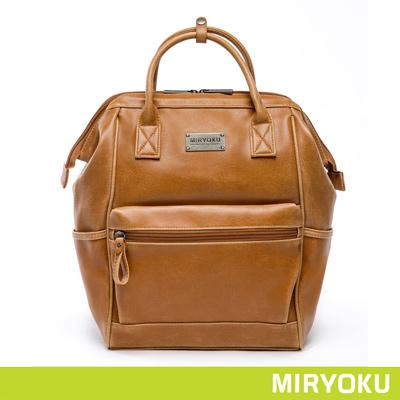 MIRYOKU經典復古皮革系列-立體拉鍊開口率性後