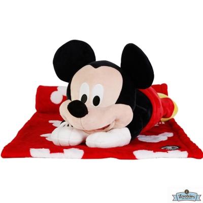 Zoobies 迪士尼Disney 米奇款 玩偶抱毯/嬰兒毯/毛毯 彌月禮盒