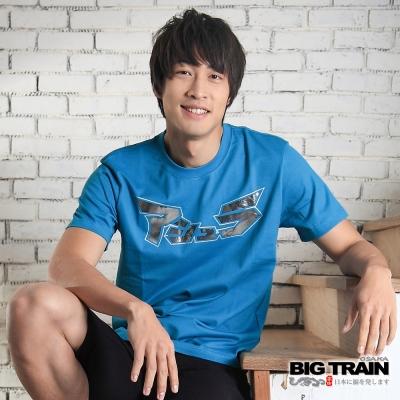 BIG TRAIN-阿修羅T恤-灰藍
