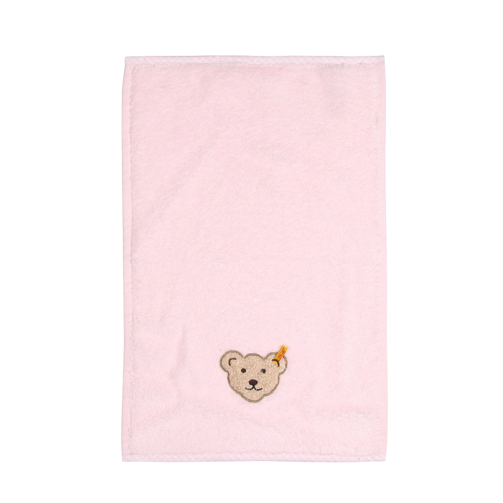 STEIFF德國金耳釦泰迪熊 - 粉紅色 長毛巾 (嬰幼兒衛浴系列)