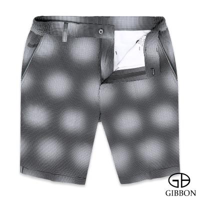 GIBBON 漸層律動型男彈力短褲‧黑色M-3XL