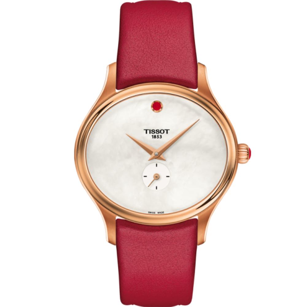 TISSOT 天梭 Bella Ora 優雅氣息時尚腕錶-紅/31x28mm