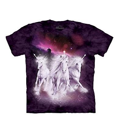 摩達客 美國進口The Mountain 銀河獨角獸 純棉環保短袖T恤