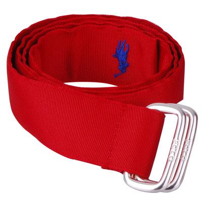 POLO 經典戰馬繡紋帆布腰帶(M/L/紅)