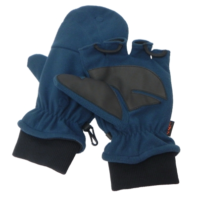 【VOSUN】新款 DINTEX 輕量防風防水翻蓋兩用手套/V-586 深藍