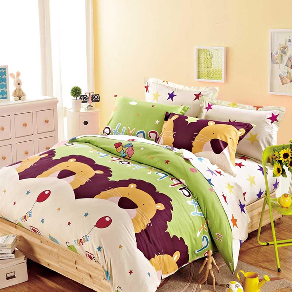 Ania Casa 台灣製 100%純棉 - 雙人床包枕套三件組 (童話王國)