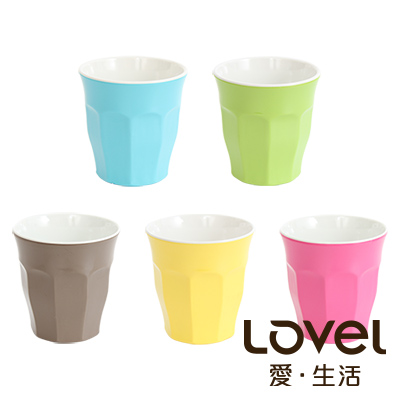 LOVEL 馬卡龍色系水杯180ml5入組(共10色)