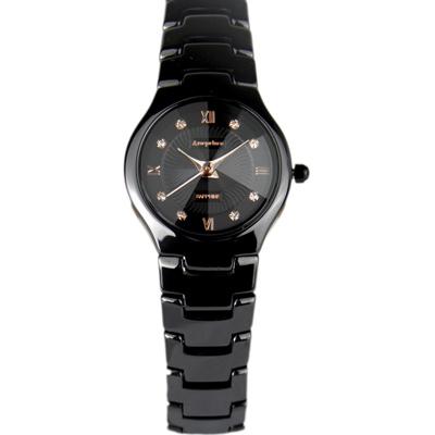 Arseprince 城市晶鑽鏡面切割女錶-黑金/24mm