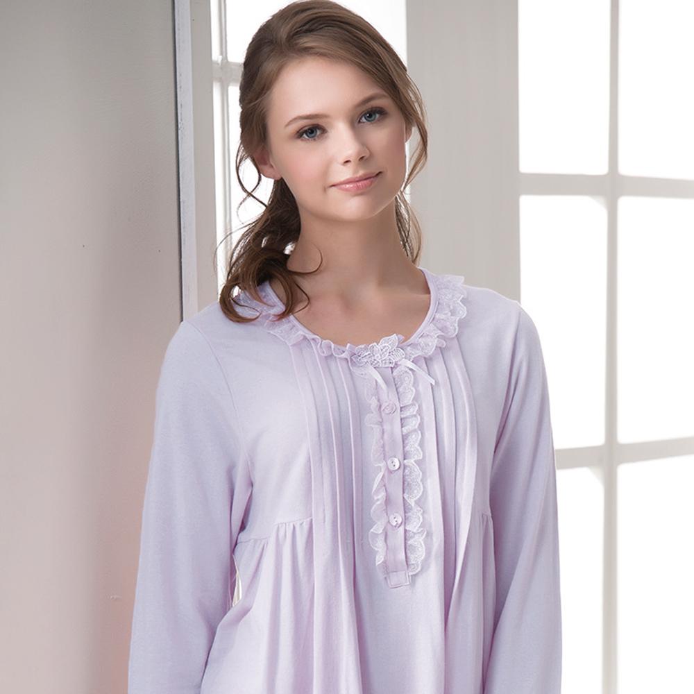 羅絲美睡衣 - 保養系列長袖褲裝睡衣(淺紫色)