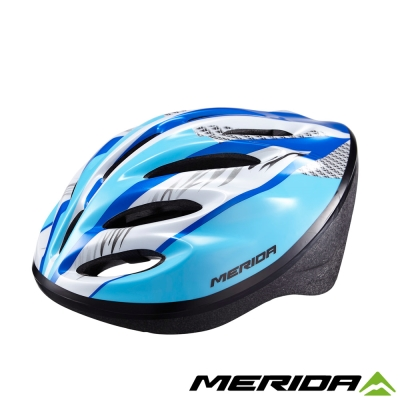 《MERIDA 》美利達亮眼安全帽明亮藍-MV15