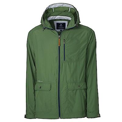 【Wildland 荒野】男SUPPLEX抗UV時尚外套綠