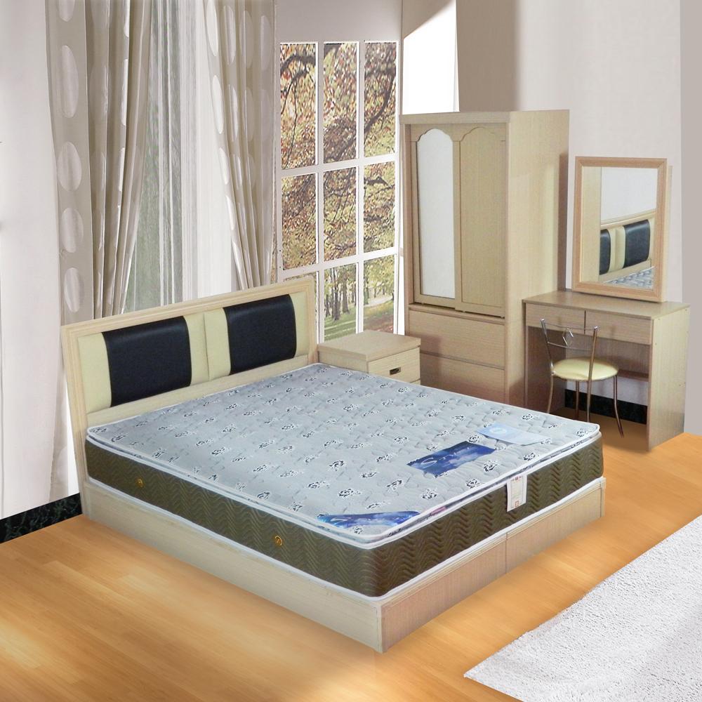 時尚屋 絲黛特側邊3D透氣6尺加大雙人獨立筒床墊