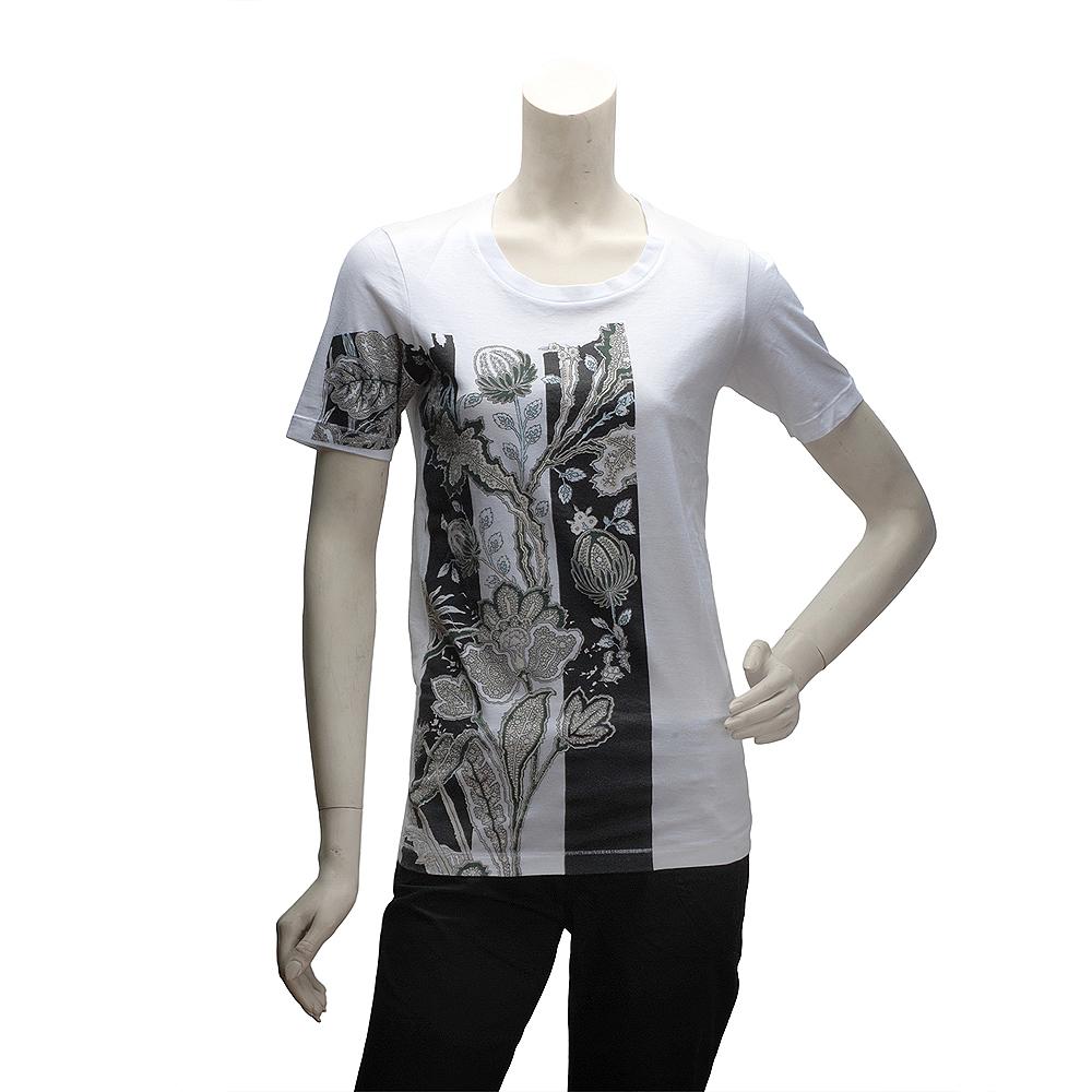 BALENCIAGA 變形蟲花朵短袖T恤(女)